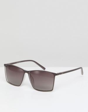 Солнцезащитные очки в квадратной оправе Jack & Jones. Цвет: белый