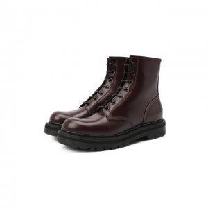 Кожаные ботинки Premiata. Цвет: красный