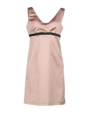 Короткое платье FRANCESCA FERRANTE. Цвет: песочный