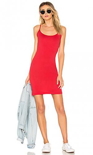 Платье-майка scarlett Velvet by Graham & Spencer. Цвет: красный