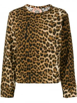 Свитер с леопардовым принтом Nº21