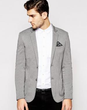 Серый блейзер New Look. Цвет: серый