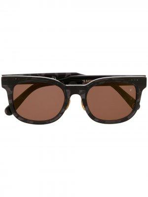Солнцезащитные очки с затемненными линзами A BATHING APE®. Цвет: черный