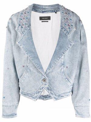 Джинсовая куртка с заклепками Isabel Marant. Цвет: синий