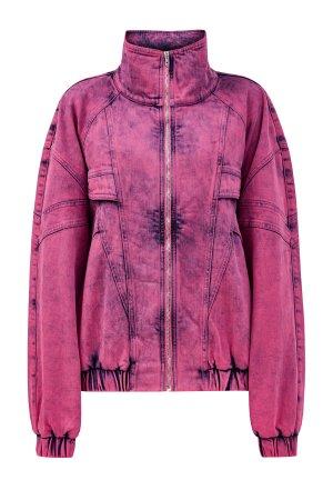 Объемная джинсовая куртка из органического хлопка STELLA McCARTNEY. Цвет: розовый