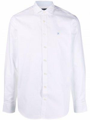 Рубашка с длинными рукавами и вышитым логотипом Hackett. Цвет: белый