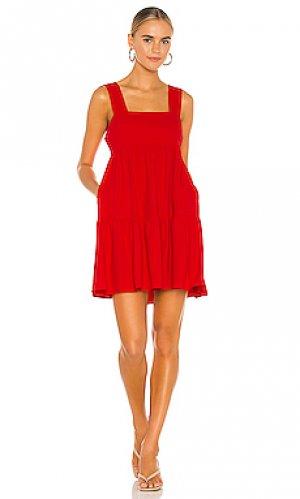 Мини платье mitzi Amanda Uprichard. Цвет: красный