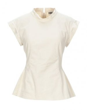 Блузка HACHE. Цвет: бежевый