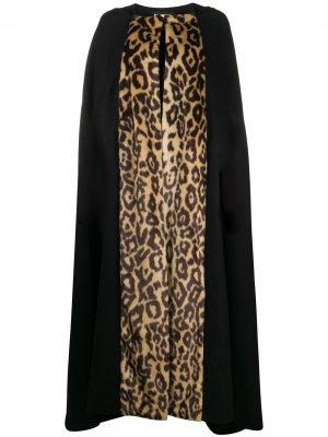 Кейп с леопардовым принтом Dries Van Noten Pre-Owned. Цвет: черный