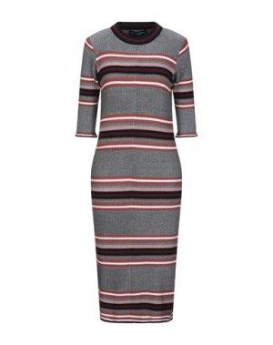 Платье миди FRENCH CONNECTION. Цвет: черный