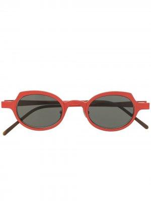 Солнцезащитные очки в круглой оправе Rigards. Цвет: красный