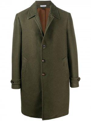 Однобортное пальто Boglioli. Цвет: зеленый