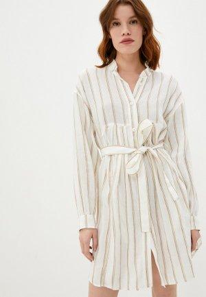 Платье Dondup. Цвет: бежевый