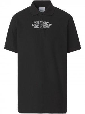 Рубашка поло с принтом Burberry. Цвет: черный