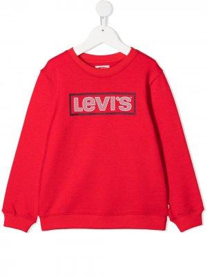 Levis Kids толстовка с логотипом Levi's. Цвет: красный
