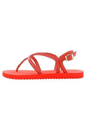 Сандалии Flip Flop. Цвет: красный