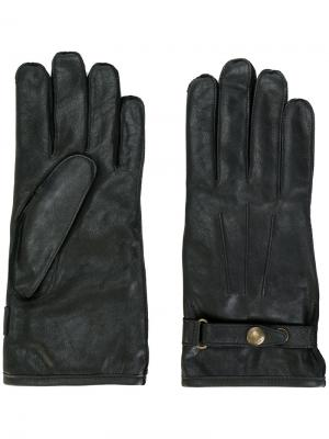 Перчатки с пряжками Belstaff. Цвет: черный