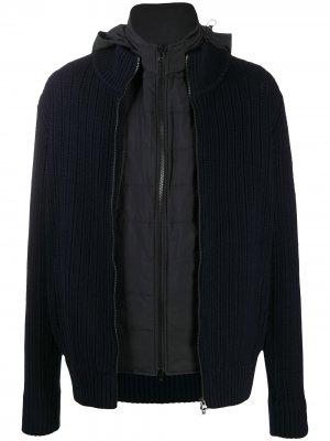 Трикотажная куртка на молнии Fileria. Цвет: синий