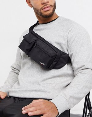 Черная сумка-кошелек на пояс в стиле милитари -Черный Only & Sons