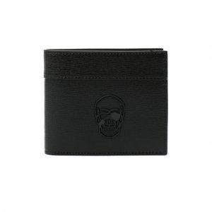 Кожаное портмоне Philipp Plein. Цвет: чёрный