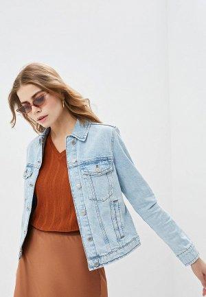 Куртка джинсовая Marks & Spencer MS. Цвет: синий