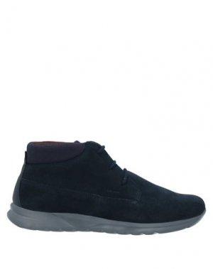Полусапоги и высокие ботинки GEOX. Цвет: темно-синий
