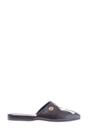 Мюли из кожи с вышитой символикой New York Yankees™ GUCCI. Цвет: черный