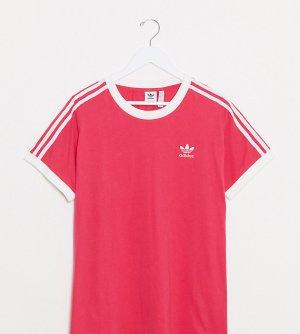 Розовые шорты с 3 полосками Plus-Розовый adidas Originals