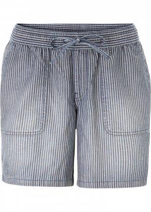 Шорты джинсовые из лиоцелла TENCEL™ bonprix. Цвет: синий