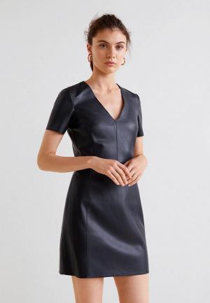 Платье Mango - WORKER. Цвет: черный