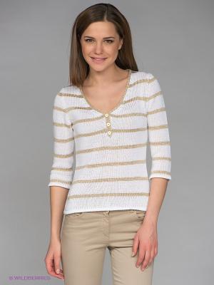 Пуловер E.A.R.C.. Цвет: бежевый, белый