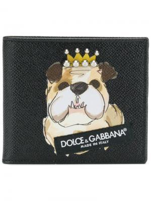 Бумажник с принтом Dolce & Gabbana. Цвет: чёрный