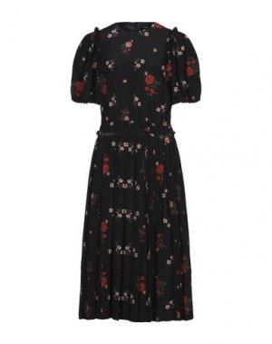 Длинное платье SIMONE ROCHA. Цвет: черный