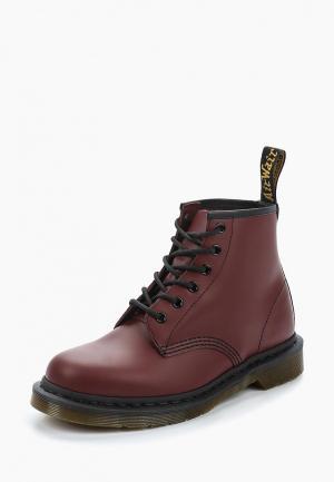 Ботинки Dr. Martens 6 Eyelet Boot. Цвет: бордовый