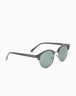 Круглые солнцезащитные очки в черной оправе -Черный цвет Topman