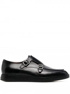 Туфли монки Carter Santoni. Цвет: черный