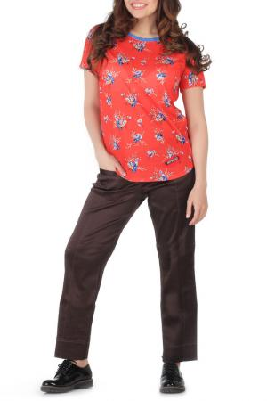 Блуза-футболка Artwizard. Цвет: красный