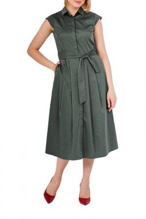Платье LORIATA. Цвет: хаки