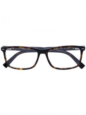 Очки в квадратной оправе Ermenegildo Zegna. Цвет: чёрный