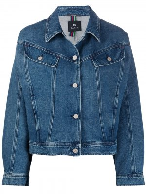 Джинсовая куртка свободного кроя PS Paul Smith. Цвет: синий