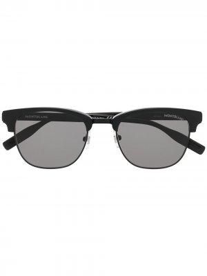 Солнцезащитные очки в D-образной оправе Montblanc. Цвет: черный