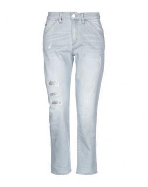 Джинсовые брюки ANGELO MARANI. Цвет: серый