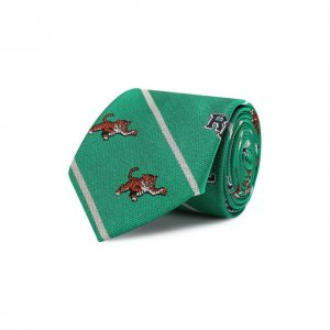 Шелковый галстук Polo Ralph Lauren. Цвет: зелёный