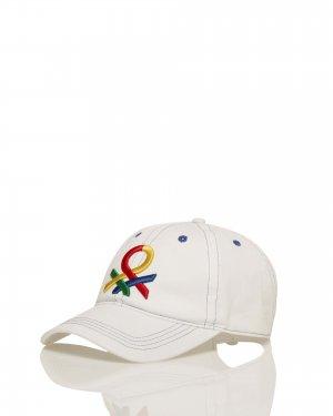 Бейсболка с логотипом Benetton. Цвет: белый