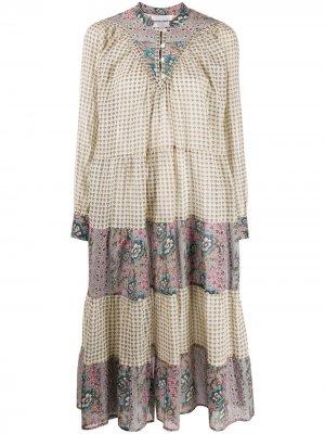Ярусное платье с цветочным принтом Antik Batik