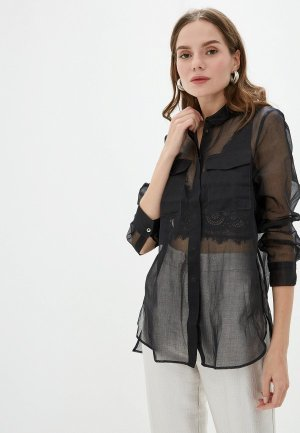 Блуза Colletto Bianco. Цвет: черный