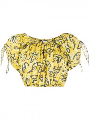 Укороченный топ Colette DVF Diane von Furstenberg. Цвет: желтый