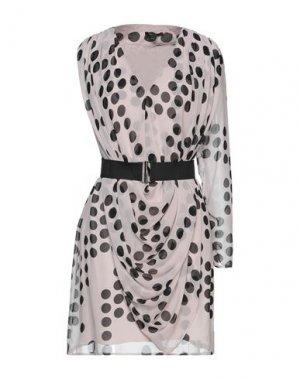 Короткое платье FULL CIRCLE. Цвет: телесный