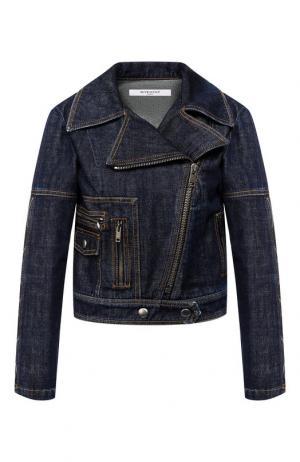 Джинсовая куртка с косой молнией Givenchy. Цвет: синий