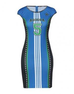 Короткое платье AGOGOA. Цвет: синий